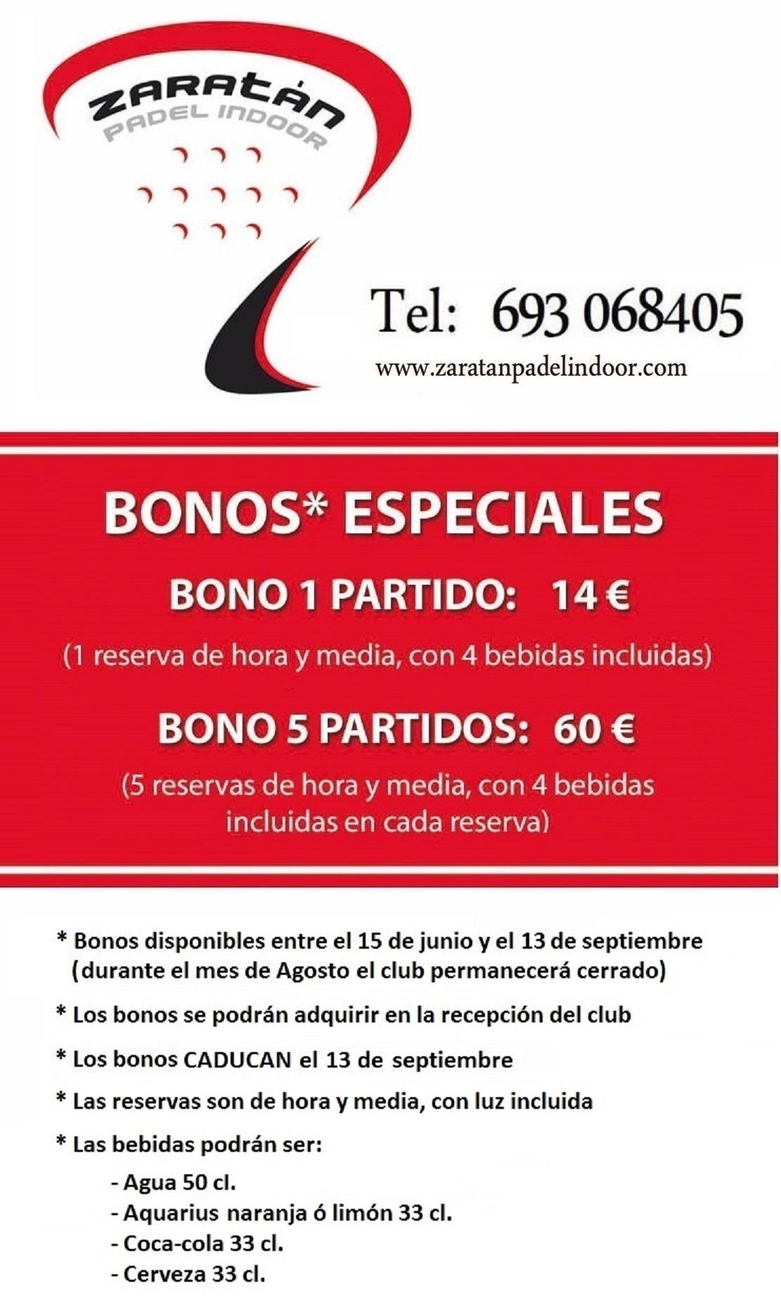 Oferta bonos Verano 2015